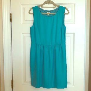 JCREW OUTLET Turkoise sleeveless dress